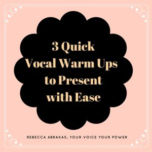 3 quick vocal warm up to present with ease